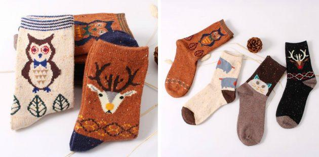 Милые тёплые носки
