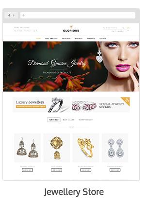 Magento jewelry theme Glorious