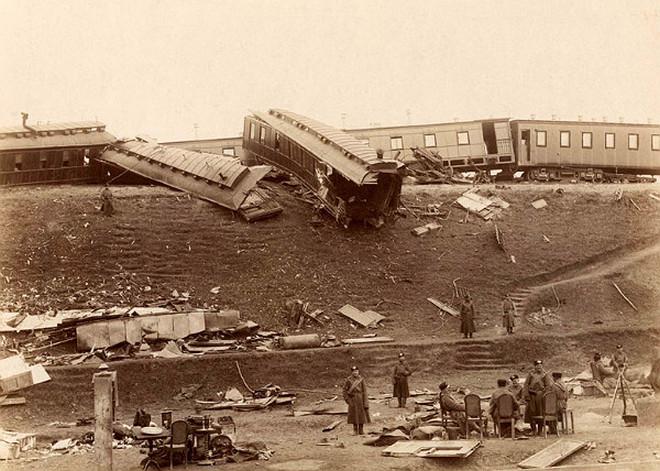 Загальний вигляд місця катастрофи імператорського потягу під Бірками неподалік Харкова, 1888 рік
