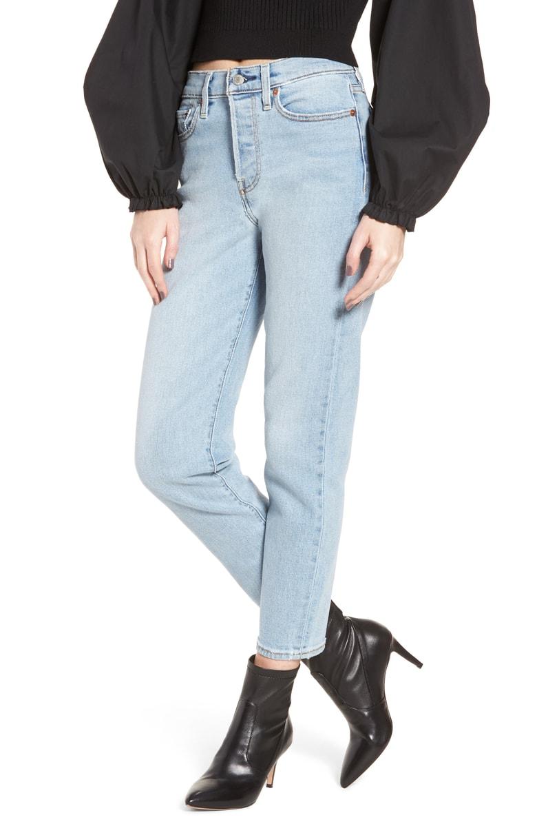 LEVI'S<SUP>®</SUP> Wedgie Icon Fit High Waist Crop Jeans, Main, color, BAUHAUS BLUES