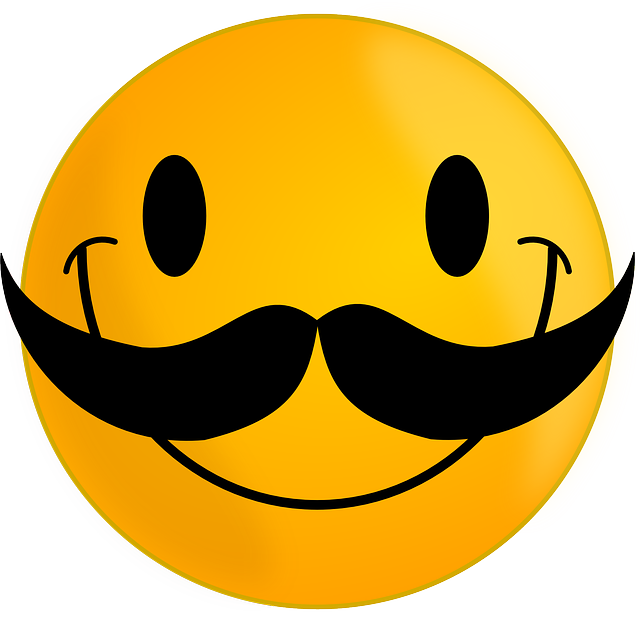Mustache, Smiley, Happy