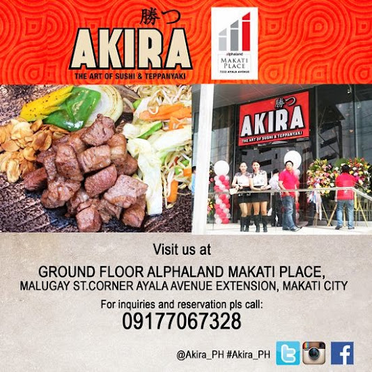 akira alphaland makati authentic japanese restaurant