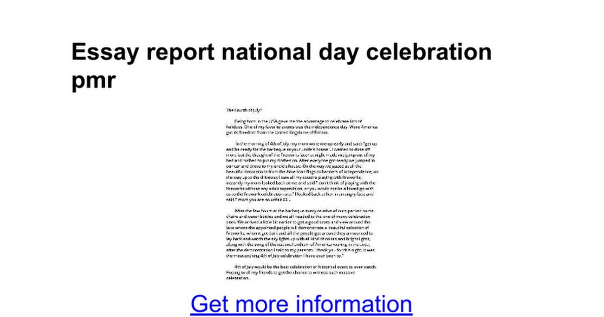 essay report national day celebration pmr google docs