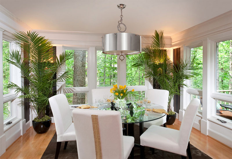 nature inspired green plants decoration