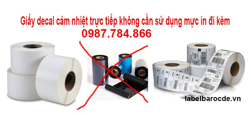 Sử dụng giấy decal cảm nhiệt không cần dùng mực in đi kèm