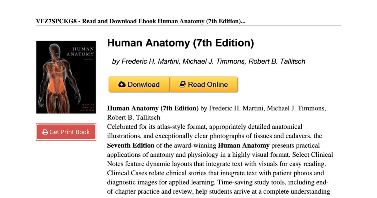 Human Anatomy Edition Frederic Martini 0321688155pdf Google Drive