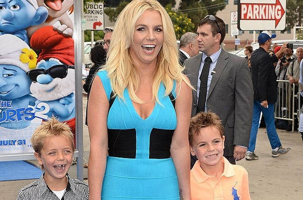 Disneyland photo shows Britney Spears' sons looking all grown up