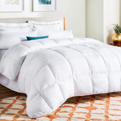 Linenspa All - Season White Down Alternative Quilted Comforter
