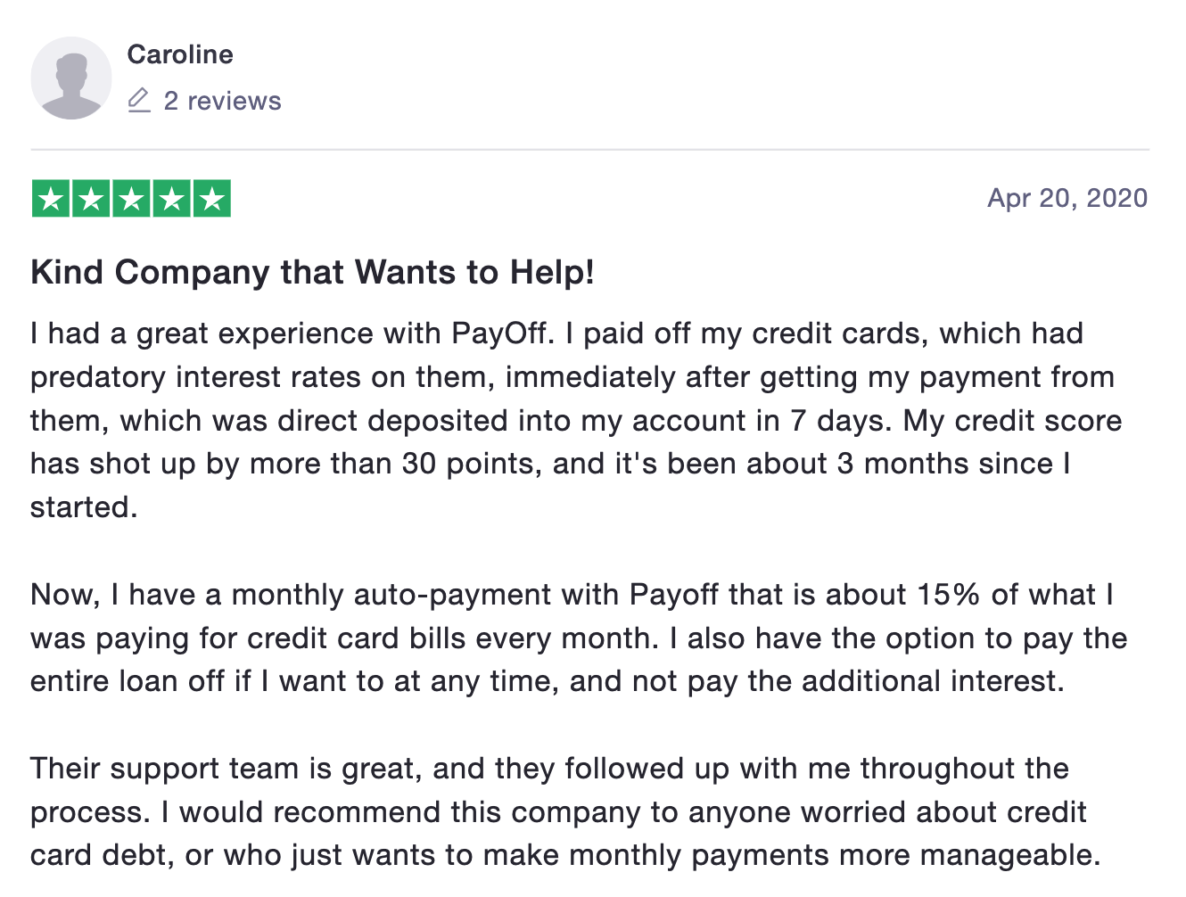 Payoff reviews Trustpilot
