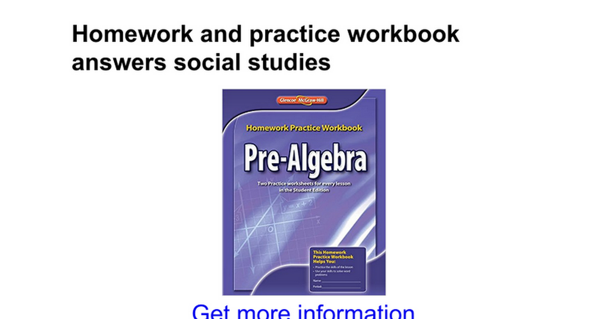 Homework and practice workbook answers social studies google docs fandeluxe Gallery