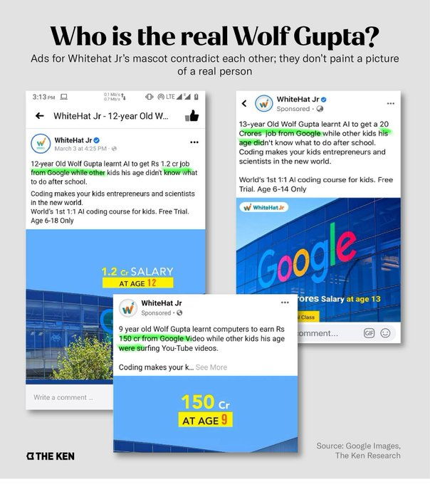 WhiteHatJr. Says Wolf Gupta Ad With 20 Crore Job Package at Google Was Fake to High Court Delhi, India 3