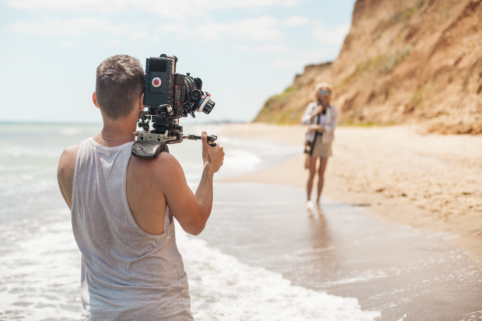 Video Content Production on the beach