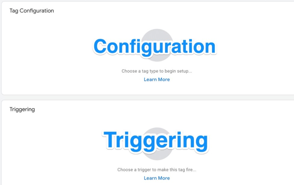 Tag configuration and triggering.