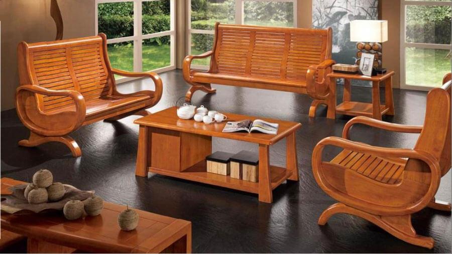 Bàn ghế gỗ phòng khách có tính thẩm mỹ và độc đáo