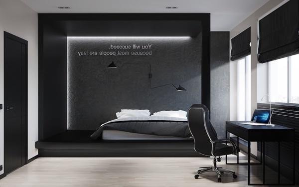 Phòng ngủ màu đen trắng 2