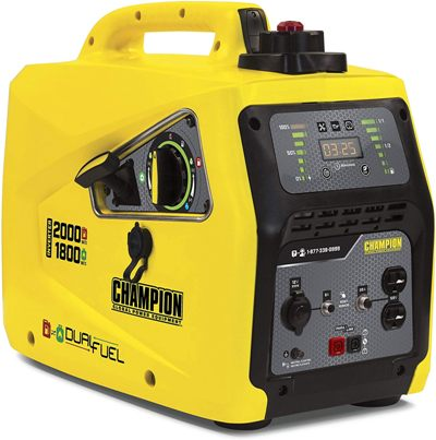 Champion Power Equipment 100402 2000-Watt Dual Fuel Portable Inverter Generator