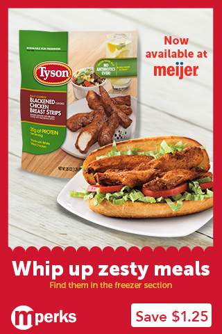 Tyson Blackened Chicken Strips at Meijer are ON SALE!