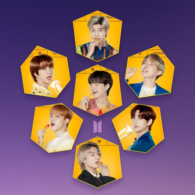 Hình ảnh nhóm nhạc BTS.