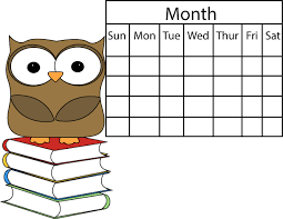 Important dates - Owl beside calendar