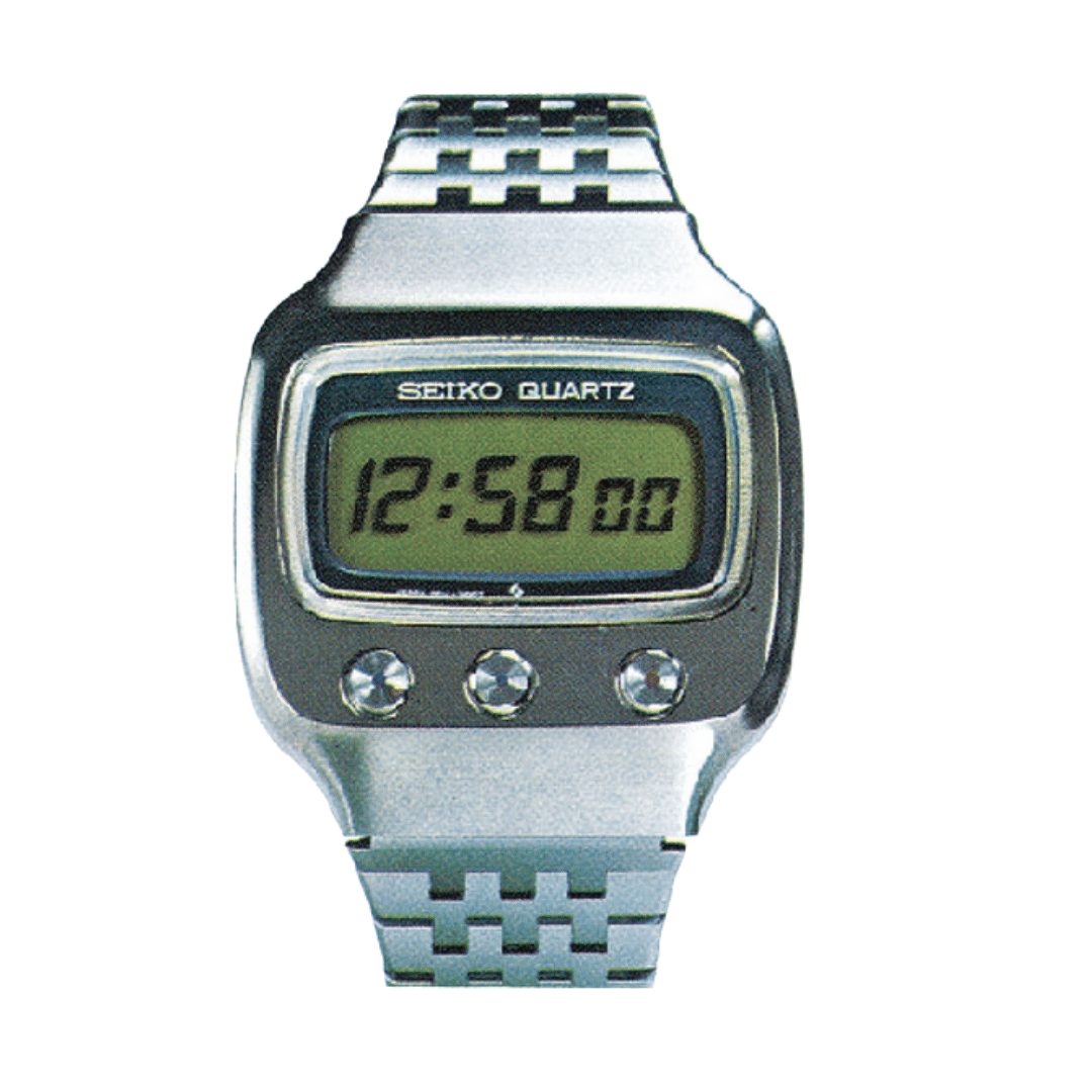 Seiko quartz watch with a LCD display.