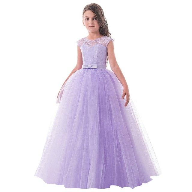 Tanie Sukienki Z Koronki Na Wesele Dla Dziecka Dziewczynki W Wieku 10, 11,12 Lat 5