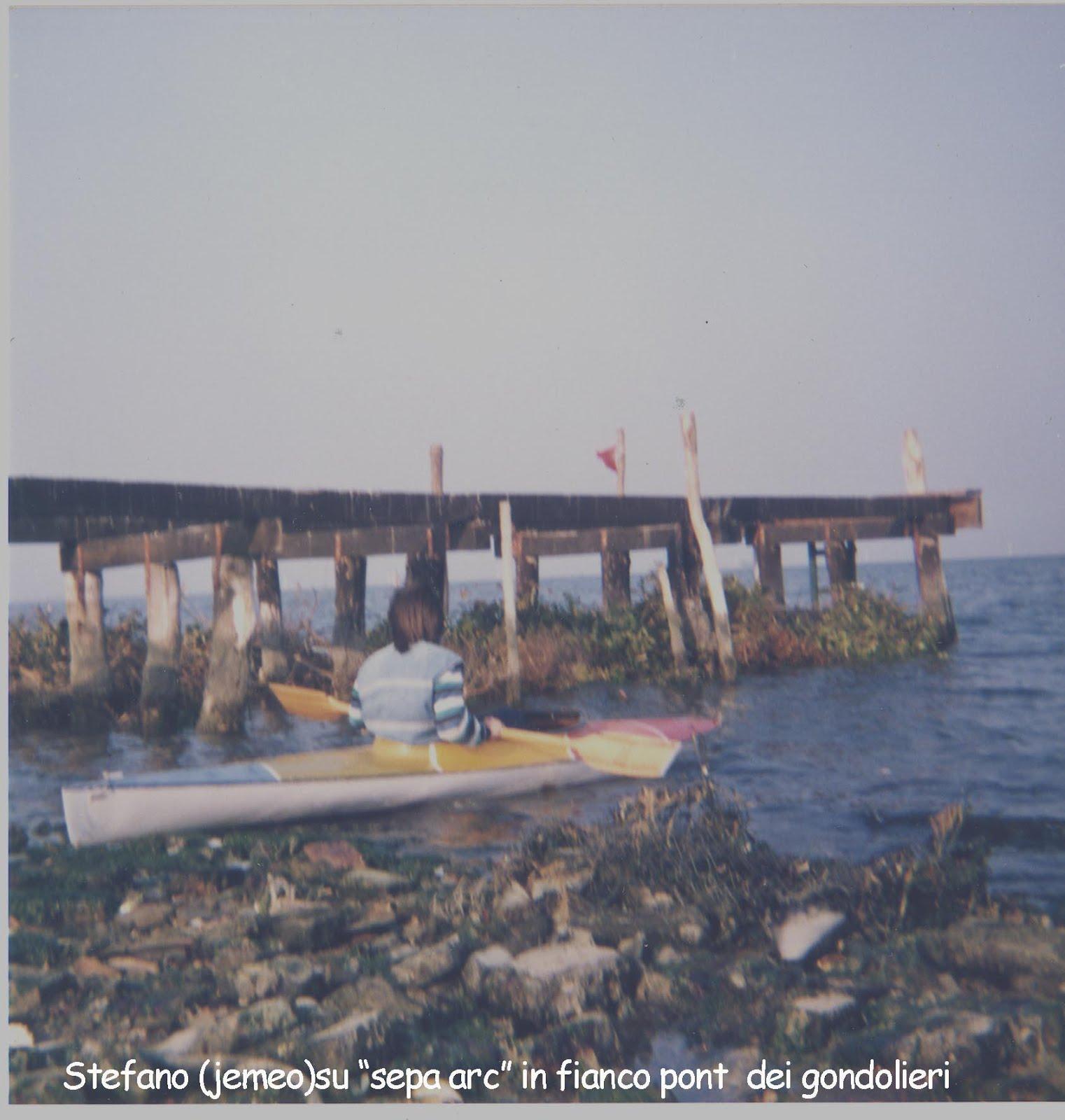 isola di campalto, imbarcadero dei gondolieri (anni '80)