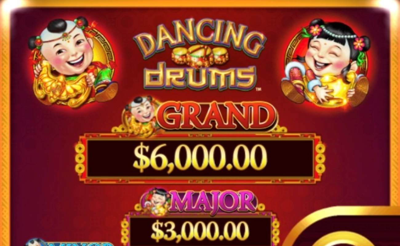 Dancing Drums online slot casino game bonus win