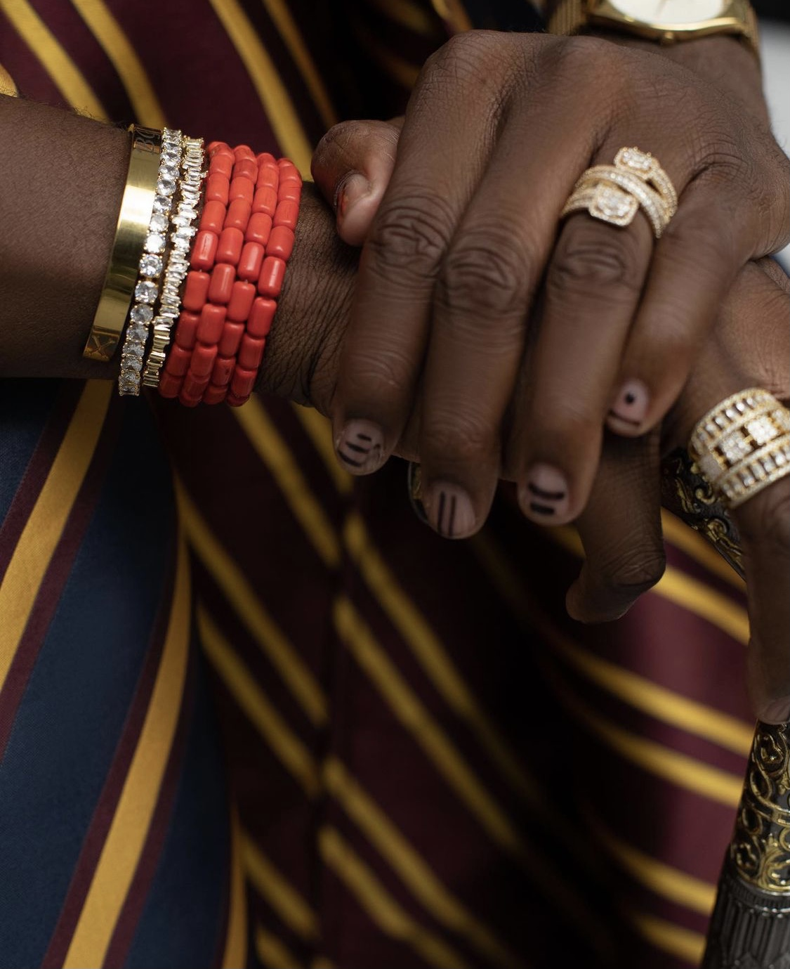Nail Art: Riding with boys with coloured nails by Enioluwa Adeoluwa