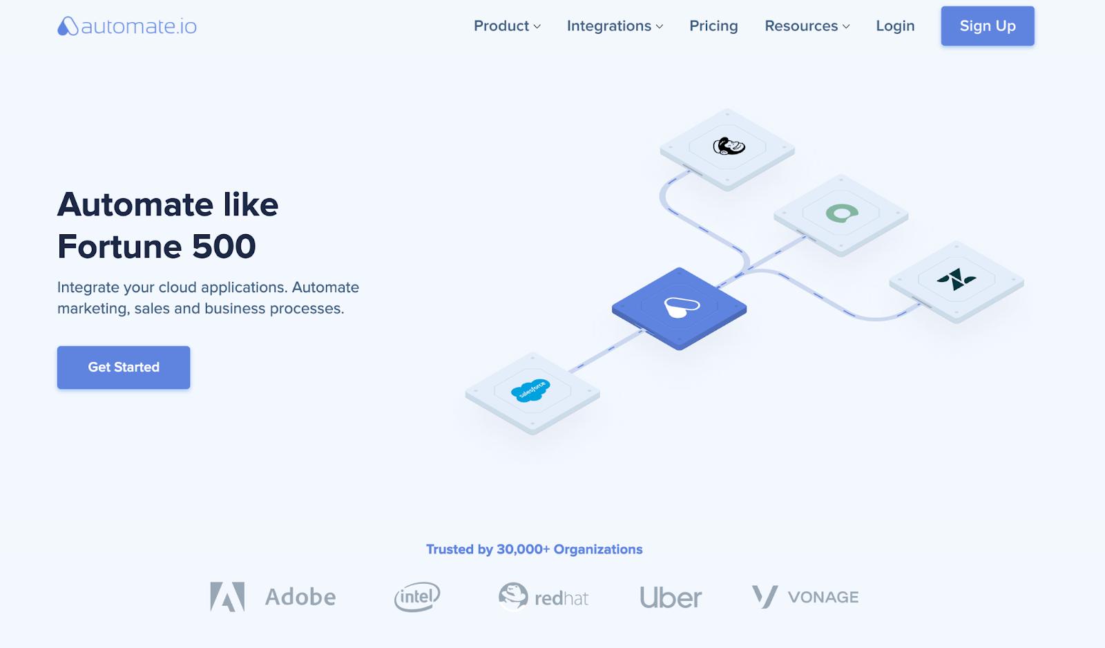 automate homepage