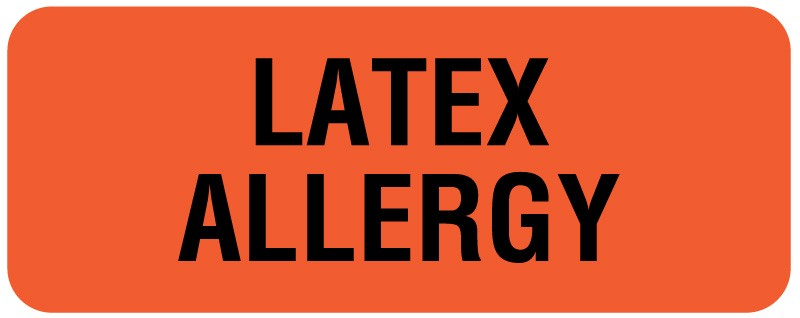Latex Allergy Label