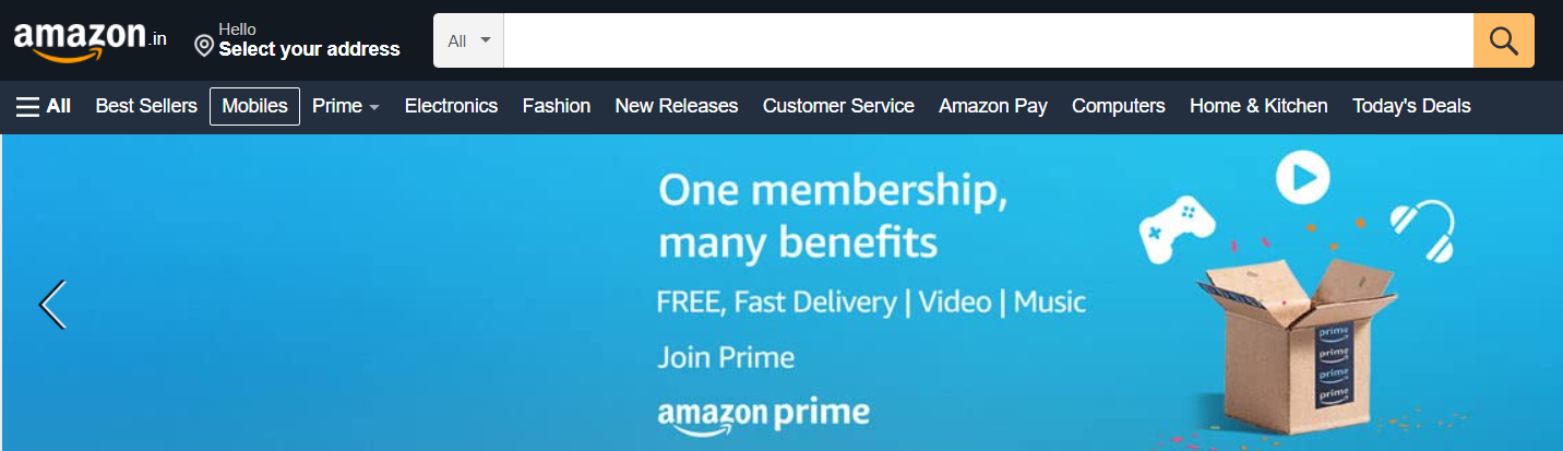 Screenshot of Amazon - Product Listing Search Engine