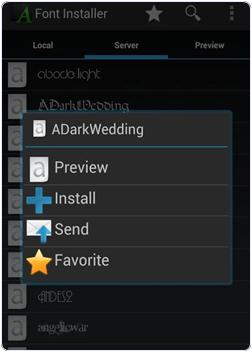 Font Installer change font
