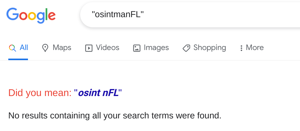 OSINT examples with a username