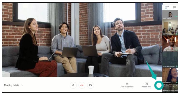 Video call recording in Google Meet