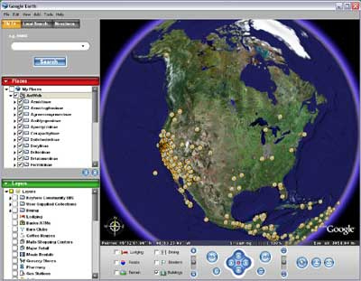 AntWeb- Google Earth Map