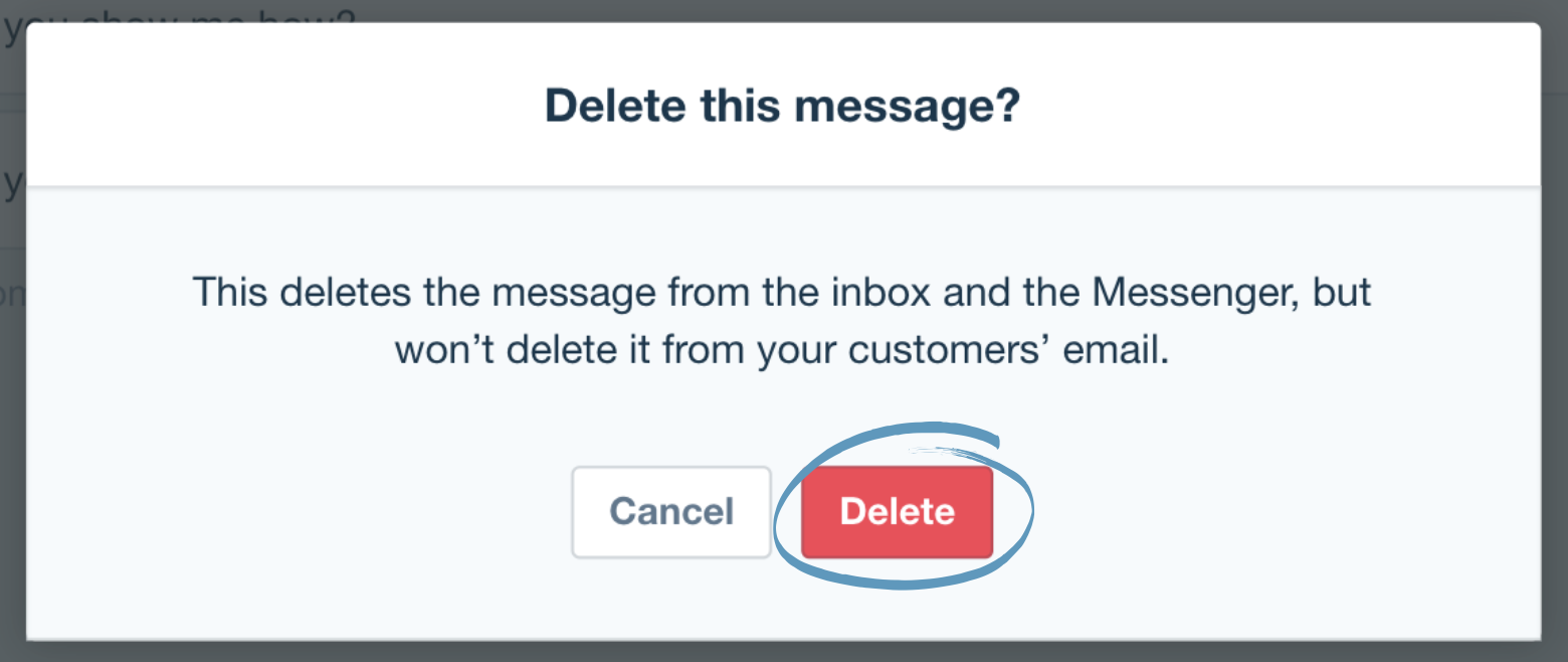 how to delete no subject message