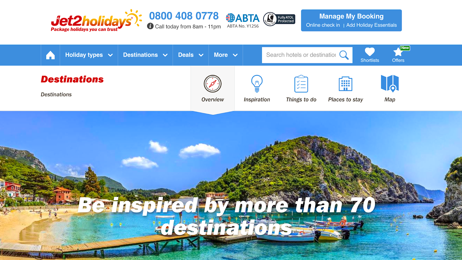 Jet2Holidays - Be inspired by over 70 destinations
