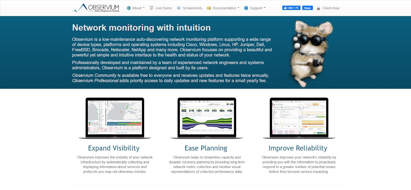 Network Monitoring Tools - Observium