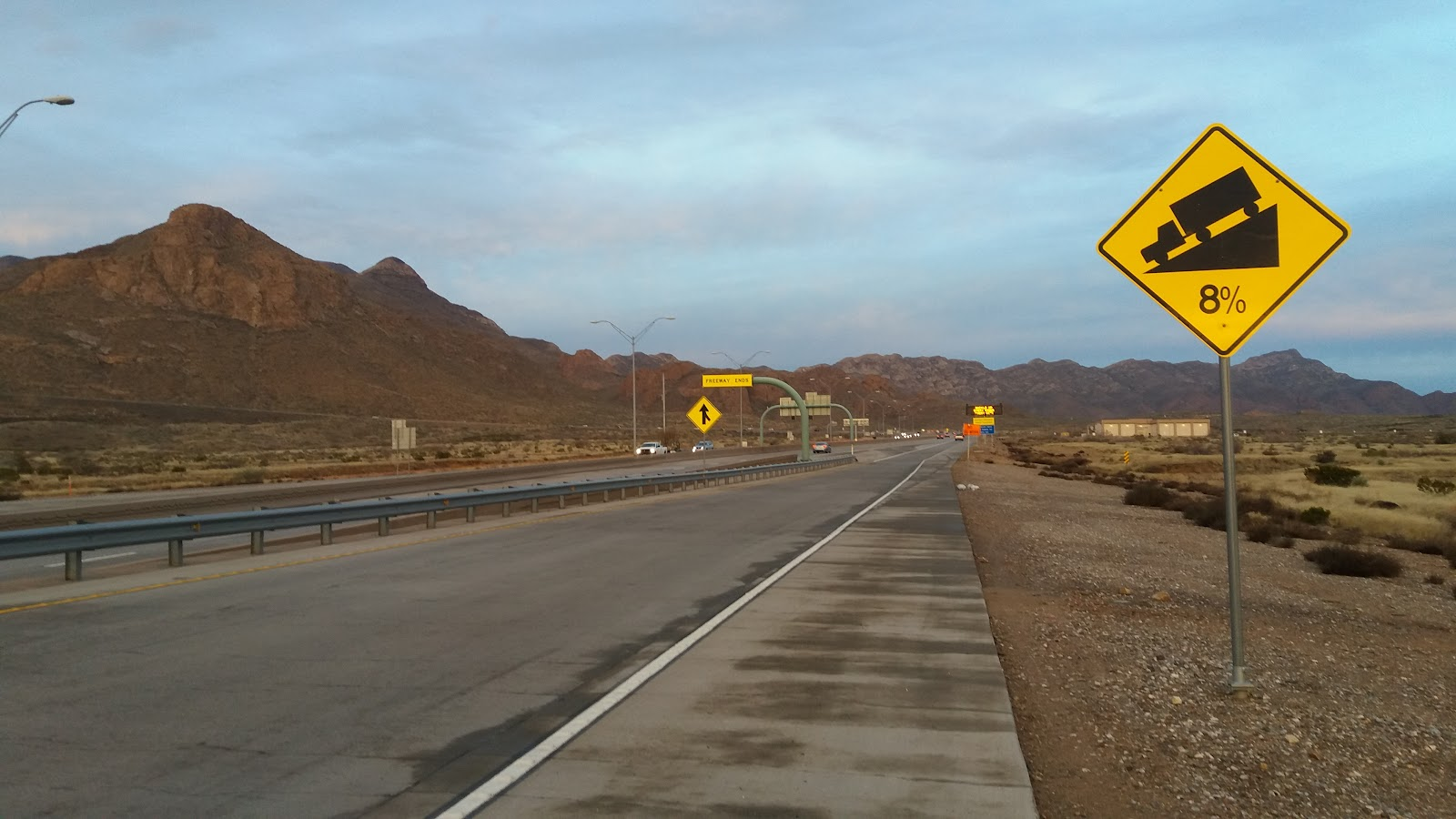 Bicycle climb Smugglers Pass East - Transmountain Drive - roadway, roadway shoulder, mountains