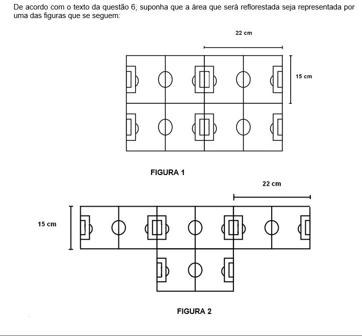 O perímetro, em centímetros, das figuras 1 e 2 medem respectivamente