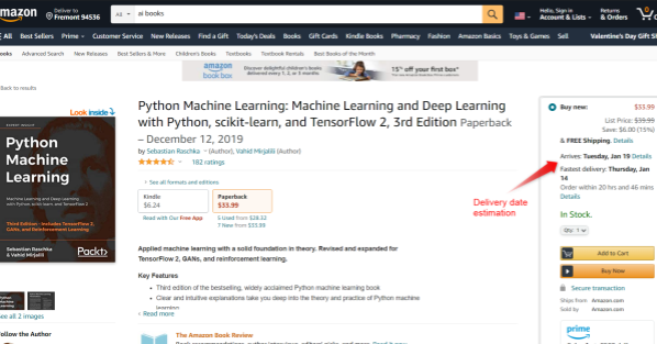 AI use case in Amazon eCommerce