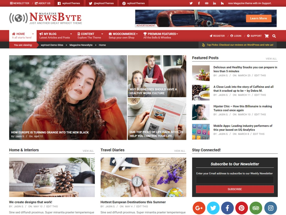 newsbyte wordpress theme