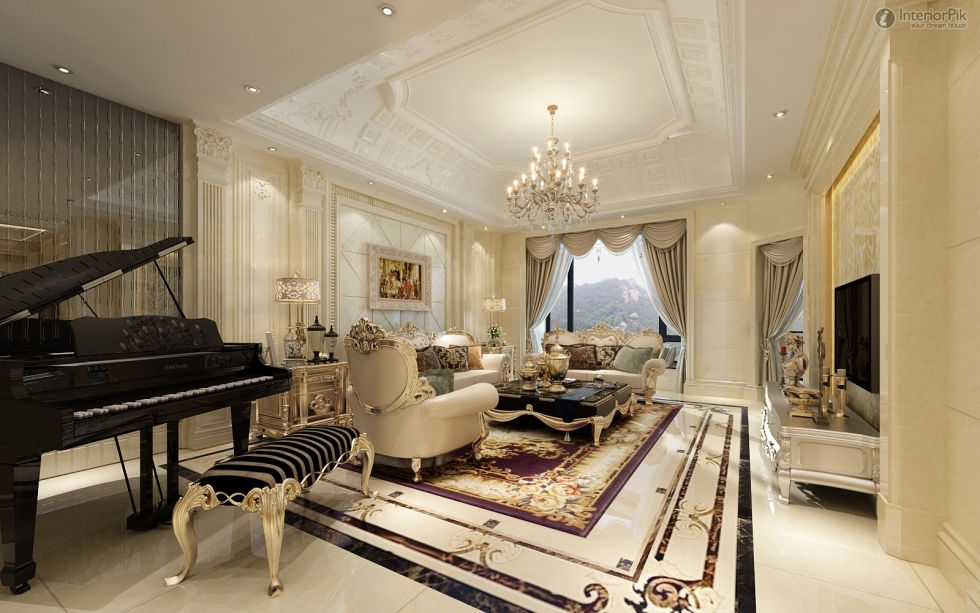 Vật liệu trong thiết kế nội thất chung cư phong cách Châu Âu