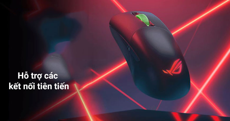 Chuột gaming không dây Asus ROG Keris Wireless (P513) (Đen) | Hỗ trợ kết nối tiên tiến