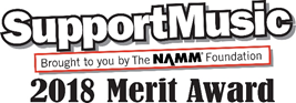 SupportMusic 2018 Merit Award Logo
