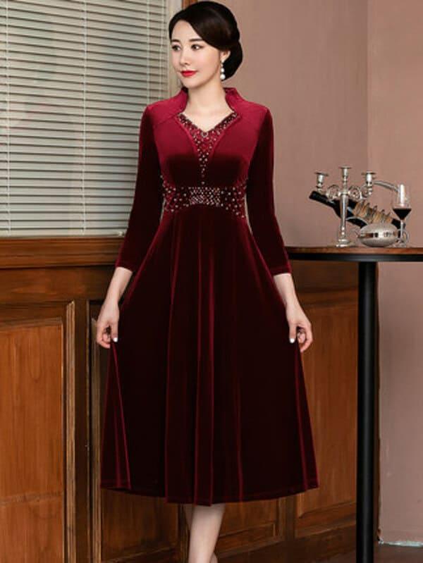 Màu đỏ rượu được các quý cô thường xuyên chọn lựa