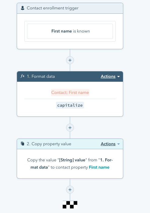 Workflow to capitalize contact first names