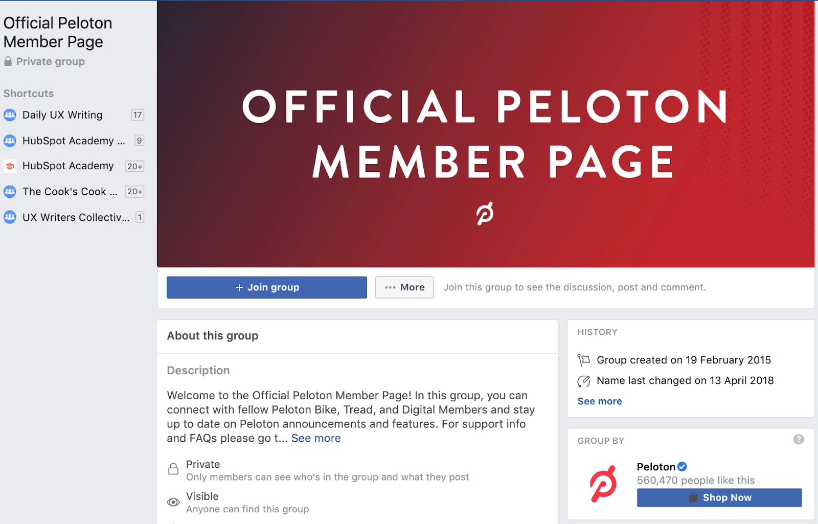 Official Peloton member page