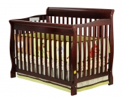 Ashton Convertible 4 in 1 Crib in Cherry - 660C