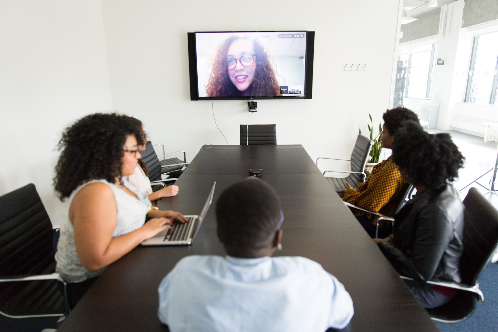 remote-first means everyone needs to participate in meetings remotely. it's the default